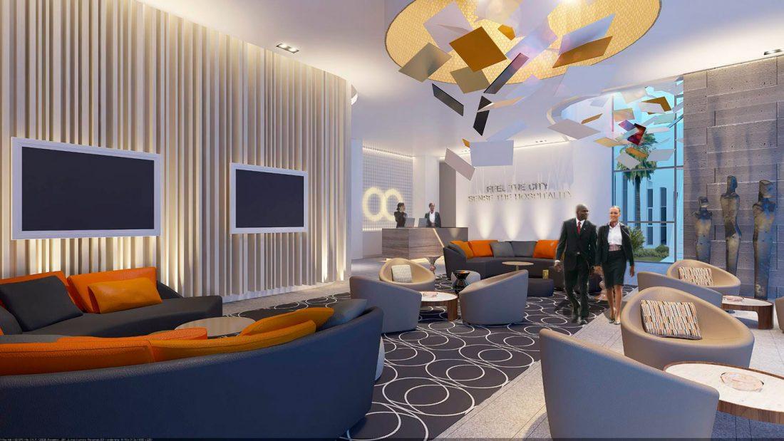 Vestíbulo Proyecto Hotel Noom Mangalis