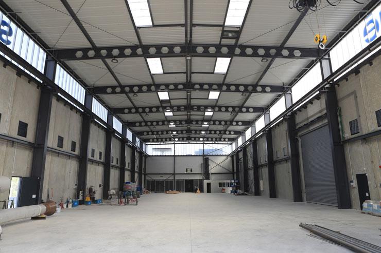 Interior Nave Industrial y Oficinas Sorigué