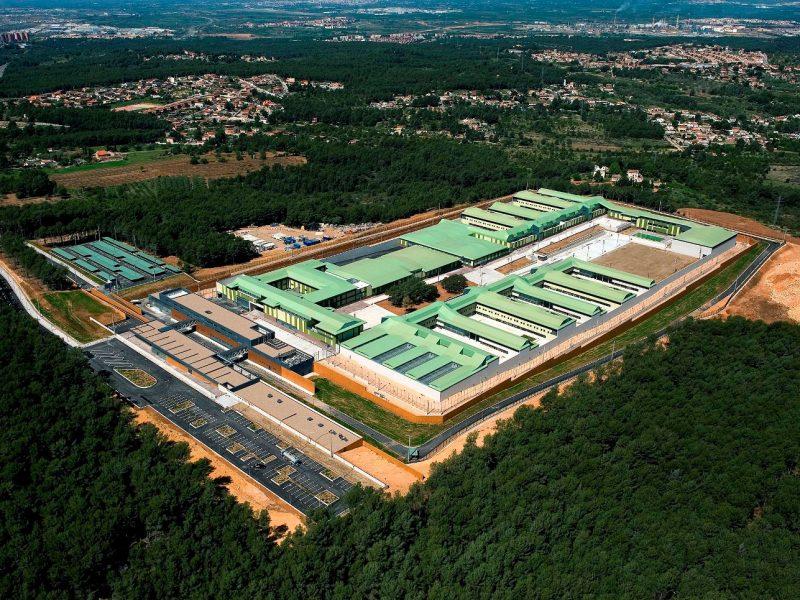 Proyecto Centro Penitenciario Mas d'Enric, vista del aire
