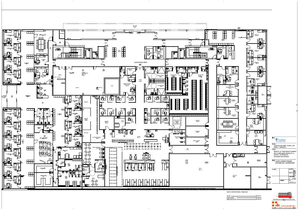 Plano de Rehabilitación y consultas del Hospital Sociosanitario Francolí