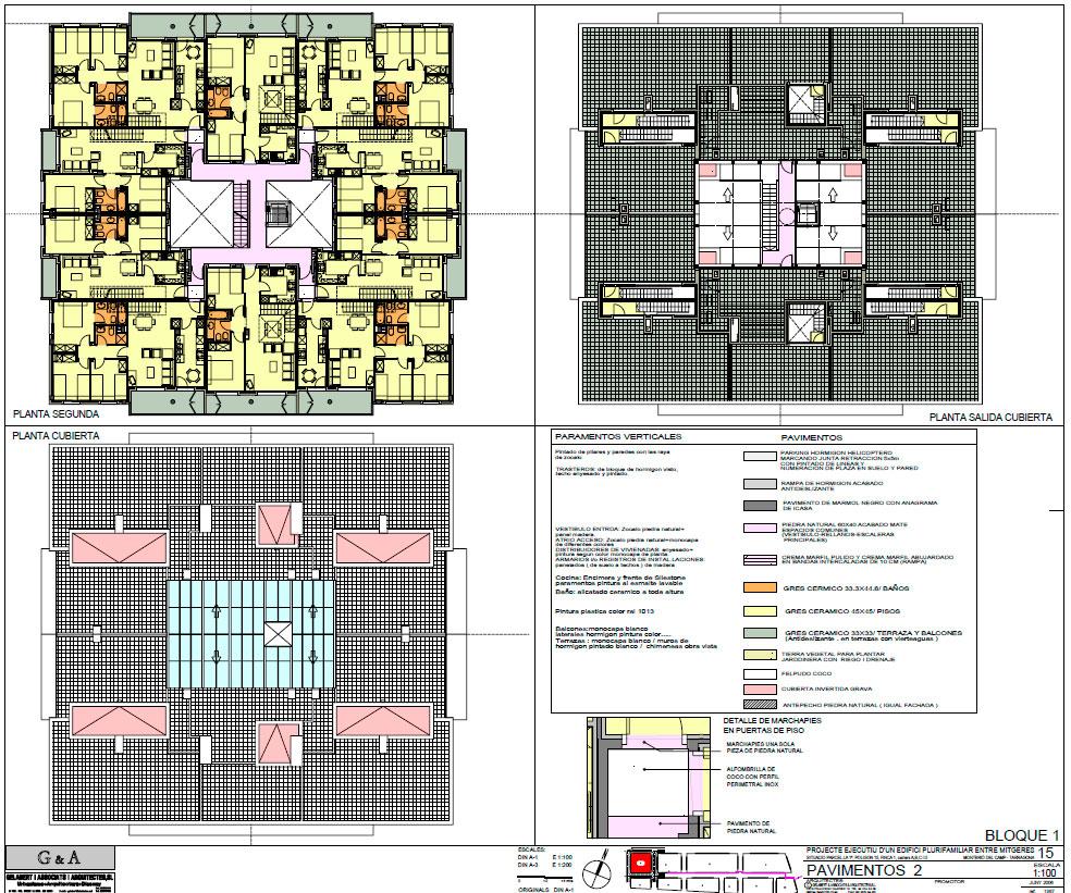 Plano Proyecto Viviendas ICASA Montbrió